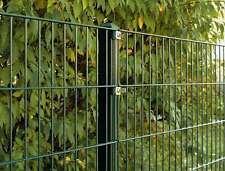 Doppelstab Mattenzaun Set / Grün / 203cm hoch / 30m lang / Tor Industriezaun