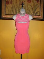 NWT  Arden B. Pink Lace Bandage Dress Size S