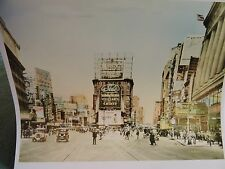1927 Times Square Macys Department Store Sign NYC New York City Color Photo