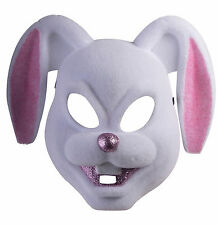 Creepy Bunny Rabbit Mask Plastic Front Face Animal Mask Teen to Adult Size