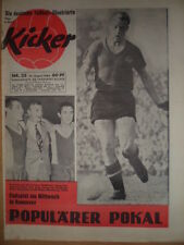 KICKER 35- 27.8. 1962 ** Pokal- HF Nürnberg-Frankfurt 4:2 Düsseldorf-Schalke 3:2