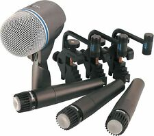 Shure DMK57-52 4 Piece Drum Microphone Set w/ (3) SM57 and (1) Beta 52A