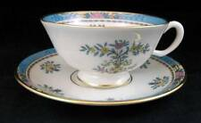 Lenox BLUE TREE Cup & Saucer Gold Backstamp B300 GREAT CONDITION
