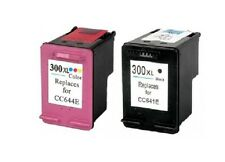 2 CARTUCHOS COMPATIBLES 300XL HP NEGRO Y TRICOLOR CARTRIDGE DESKJET F2488 F2480