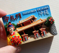 TOURIST SOUVENIR Resin 3D FRIDGE MAGNET -- Shureimon Okinawa Japan
