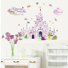 Princess Castle Girl Wall Decal Sticker Vinyl Art Kids Nursery Room  Home Decor