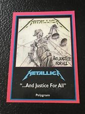 Metallica 1997 Argentina International Rock Cards Licensed And Justice For All