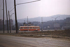 Pittsburgh PCC on the 82 or 85 Line on Centre Ave 1958 Original Kodachrome Slide