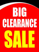 "Big Clearance Sale Business Retail Display Sign, 18""w x 24""h, Full Color"