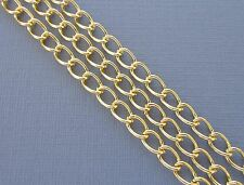 6.56ft Gold Plated Findings Curb Link opened Cable Chains Jewelry making  DIY