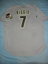 AUTHENTIC Russell Athletic CRAIG BIGGIO HOUSTON ASTROS Grey Jersey 52 Bagwell