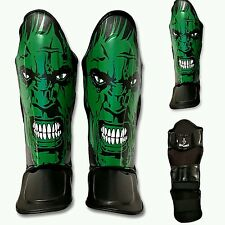 GK Leather Shin guards HULK Pad MMA KIDS Muay Thai KickBoxing UFC twins sandee