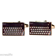 High Quality Rectangular Retro Computer Keyboard Cufflinks