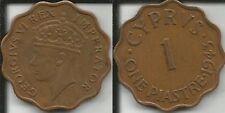 CIPRO 1 PIASTRA 1943 GIORGIO V I SPL