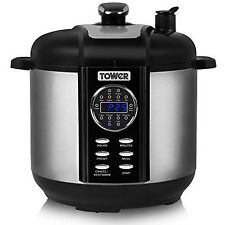 Tower T16008 One Pot Express Electric Pressure Cooker with Smoker 1000 W 6 L ...