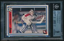 1990-91 7th Inning Sketch QMJHL rookie #222 Martin Brodeur rc BGS 9