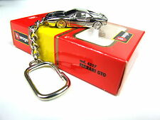 Burago Ferrari GTO Extremely rare Collectible chrome Plated Keyring 1:87