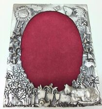 WHOLESALE Pewter Picture Frame Cat/ Garden / Kitten Picture Frame / Pewter LOT5