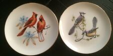 Cardinal And Blue Jay By Chadwick- Miller Inc Japan Gold Trim Decorative Plate*