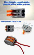 10 x Wire Connector Quick Wire Splice No Screws/Welding For wire 0.08-2.5 (4.0)