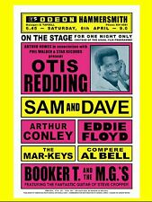 "Otis Redding / Sam and Dave Hammersmith 16"" x 12"" Photo Repro Concert Poster"