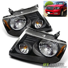 Blk 2004-2008 Ford  F150 F-150 LOBO Pickup Headlights Headlamps 04-08 Left+Right