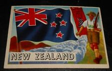 1956 Topps Trading Cards Flags of the World #68 NEW ZEALAND