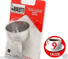 Bialetti Ricambi IMBUTO Funnel moka express 9 Tazze trichterförmig parts cups