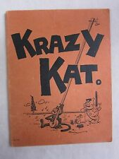 Vintage Sheet Music Book Krazy Kat A Jazz Pantomime 1922 GC