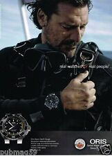 Publicité advertising 2014 La Montre Oris Aquis Depth Gauge