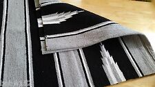 Western Horse Riding Cotton Drill Saddle Blanket Rug Wall Hanging Dog Mat BLACK