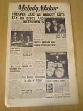MELODY MAKER 1953 APRIL 18 STAN KENTON EXETER THEATRE  FRANK SINATRA JAZZ SWING