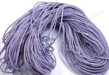 2M purple Man-made Leather Braid Rope Hemp Cord For Necklace Bracelet