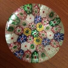 "Vintage ""Millefiori"" Glass Paperweight // 2 1/2"" // Beautiful Piece !!!"
