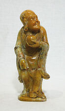 Well  Hand  Carved  Chinese  Shou-Shan  Stone  Louhan  Figure    4