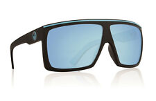 720-2215 Dragon Fame Matte Black With Sky Blue Lens Sunglasses Large fit