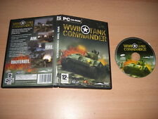 Seconda GUERRA MONDIALE TANK Comandante PC CD ROM WW II guerra mondiale-POST VELOCE