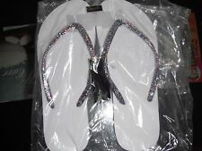 Lot 7 Pair MIX IT Glitter Flip Flops Beach RED WHITE BLUE Glitter NEW FREE SHIP