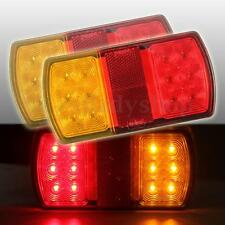2x 12V LED Stop Rear Tail Indicator Reverse Light Lamp Trailer Truck UTE Van E4