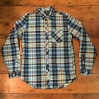 Mishka New Long Sleeve Checkered Shirt Green Blue size S