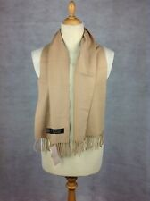 Frangi 100% Cashmere Scarf in Camel with Tassels