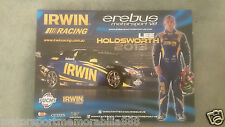 2013 LEE HOLDSWORTH POSTER V8 Supercars EREBUS MERCEDES IRWIN RACING