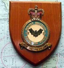 Old RAF Royal Air Force IX Bomber Squadron Station Crest Shield Plaque with Bat