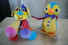 2 big LAMAZE SOFT TOYS WALTER PULL ALONG  PENGUIN + DOG