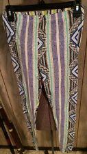 Topshop 8 Leggings NEW Yoga Club Aztec Tribal Pattern Stripes Black White Multi