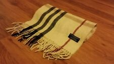 Authentic Vintage Burberry scarf Giant Check Cream 100% Lambswool CP