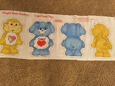 CARE BEARS Cousins Sew Stuff Fabric Panel Playful HEART MONKEY LOYAL HEART DOG