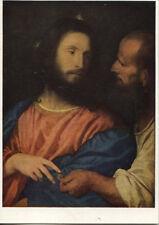 Alte Kunstpostkarte - Der Zinsgroschen von Tizian