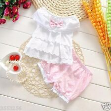2PCS Baby clothes infant baby girls clothing summer clothes top&pants