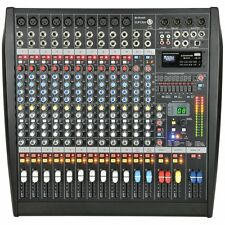 Citronic CLP1200 Studio Grade 12-Channel Mixer Amplifier 1200W Digital FX USB SD